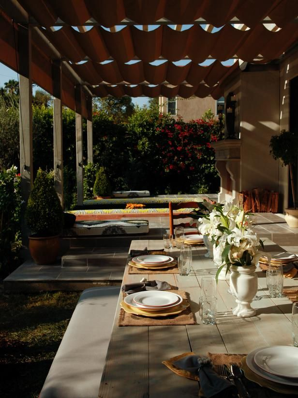 Durable Outdoor Curtains - 20 Ways to Beautifully Shade Your Outdoor Room on HGTV