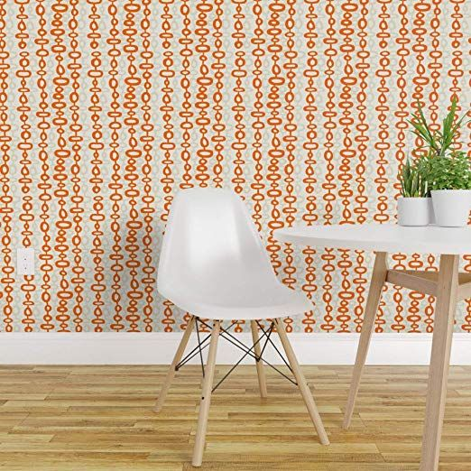 Spoonflower Peel And Stick Removable Wallpaper Modern Mid Century Modern Midcentury Mod Mid Century Modern Wallpaper Removable Wallpaper Mid Century Wallpaper