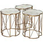 Gold Antiqued Tri Coffee Table