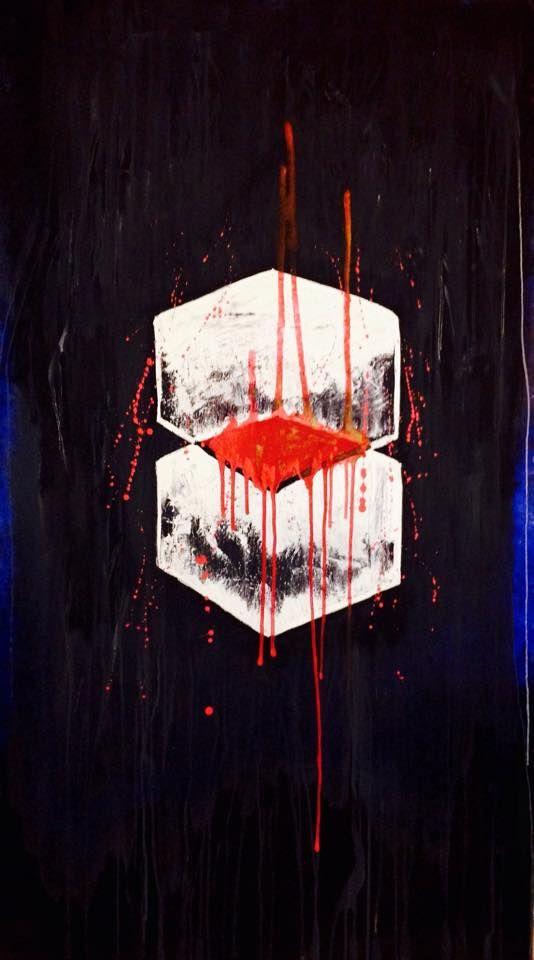 """"""" Nous sommes tous des espèces de boîtes qui vivent dans des boîtes et au lieux de simplifier notre existence, on fait tout le contraire """" """"Boxes"""" Acrylique Dimensions: (185x135) Artiste: Jimi Crainic"""