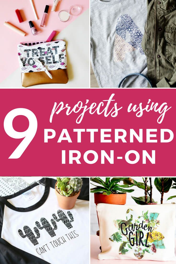 Patterned Htv And Iron On Designs Inspiration With Images Heat Transfer Vinyl Projects Patterned Vinyl Vinyl Projects