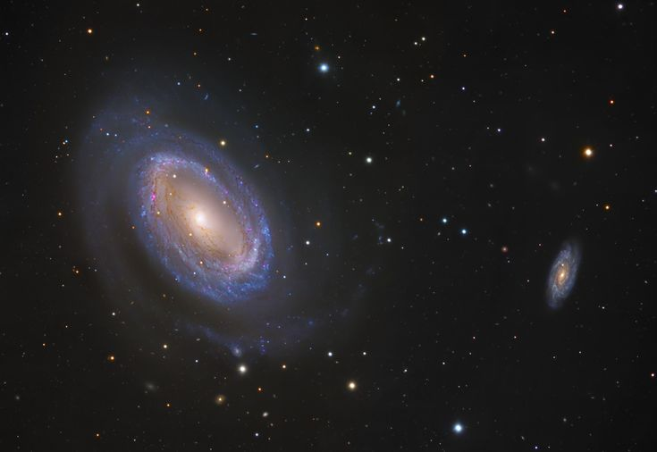 One-Armed Spiral Galaxy NGC 4725   Image Data: Subaru Telescope (NAOJ), Hubble Space Telescope, Additional Color data: Adam Block, Bob Franke, Maurice Toet - Assembly and Processing: Robert Gendler While most spiral galaxies, including our own Milky Way, have two or more spiral arms, NGC 4725 has only one. In this sharp color composite image, the solo spira mirabilis seems to wind from a prominent ring of bluish, newborn star clusters and red tinted star forming regions.