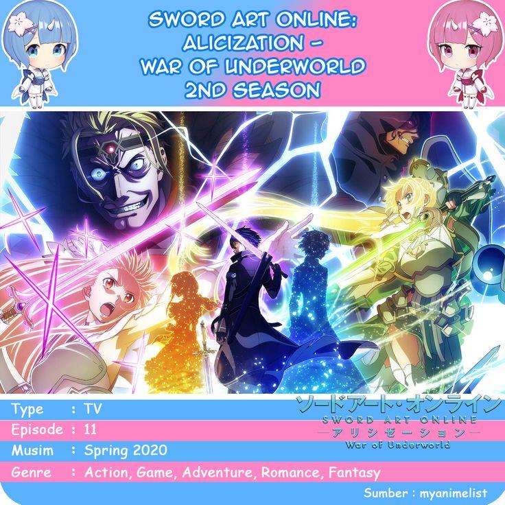 Sword Art Online Alicization War of Underworld 2nd