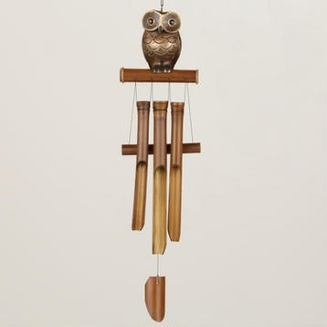 Bamboo- Owl Wind Chime