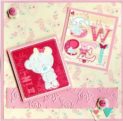 Me To You - Tiny Tatty Teddy Girl - 6 x 6 Paper Pack, mini bunting and embossing folder