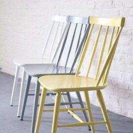 chaise scandinave laquée jaune - Landmade