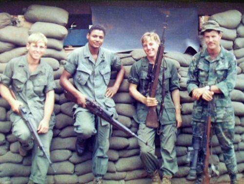 Snipers…Vietnam War Era…M14s Snipers of the 199th LIB.