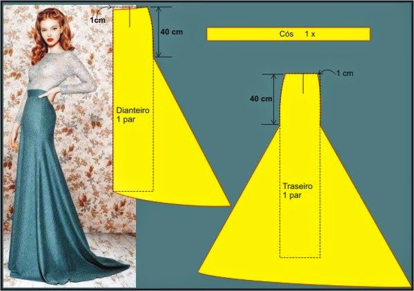 Mermaid skirt, pattern instructions