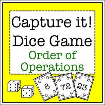 """Are you always searching for a great new math activity? This order of operations """"Capture It!"""" game makes kids think as they exercise mental math skills."""