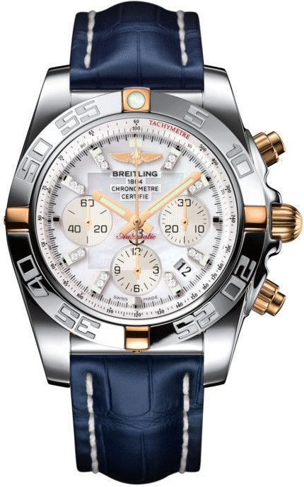 Breitling Watch Chronomat 44 #add-content #bezel-unidirectional #bracelet-strap-crocodile #brand-breitling #case-depth-16-95mm #case-material-rose-gold #case-width-44mm #chronograph-yes #cosc-yes #date-yes #delivery-timescale-call-us #dial-colour-white #g