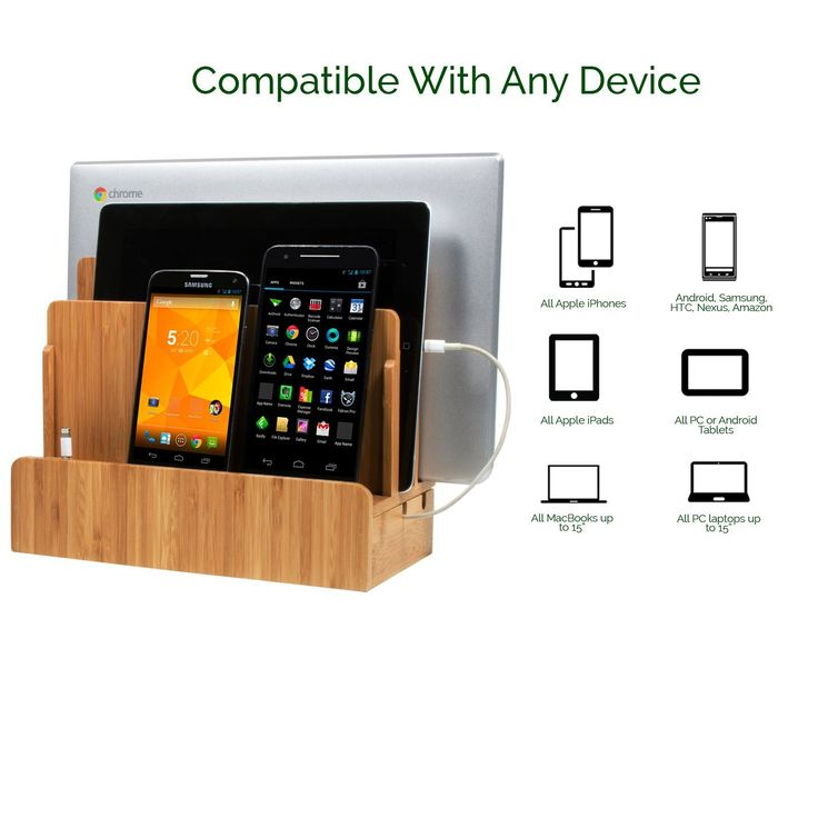 Multi-Device Charging Station (affiliate) Dock & Organizer | No tangled cords | Accommodates all devices | Tucks away nicely | Durable and attractive | Eco-friendly |