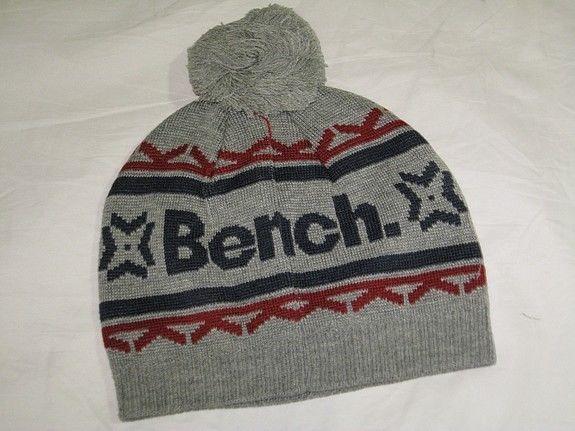 BNWT - BENCH Sonar Knitted Bobble Beanie Hat  Grey in Kleidung & Accessoires, Herren-Accessoires, Hüte & Mützen   eBay!