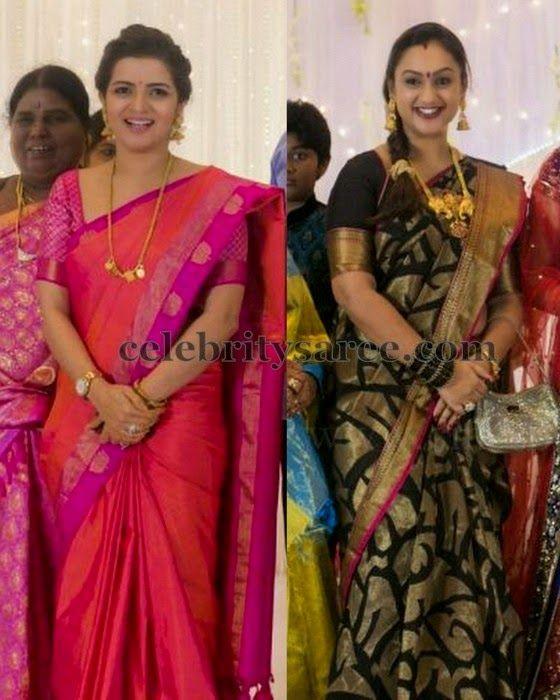 Preeta And Divyadarsini Silk Sarees Celebrities Sarees