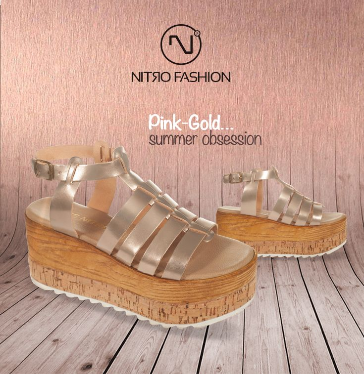 Pink-Gold...summer obsession #handmade #leather #flatforms #madeingreece #nitrofashion