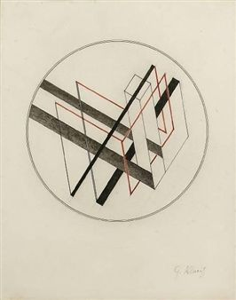 Gustav Klucis - Construction with Circle (ca 1920)