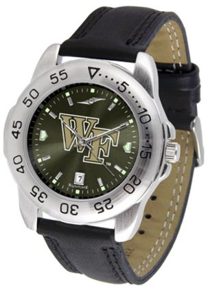 Wake Forest Demon Deacons Sport AnoChrome Men's Watch with Leather Band