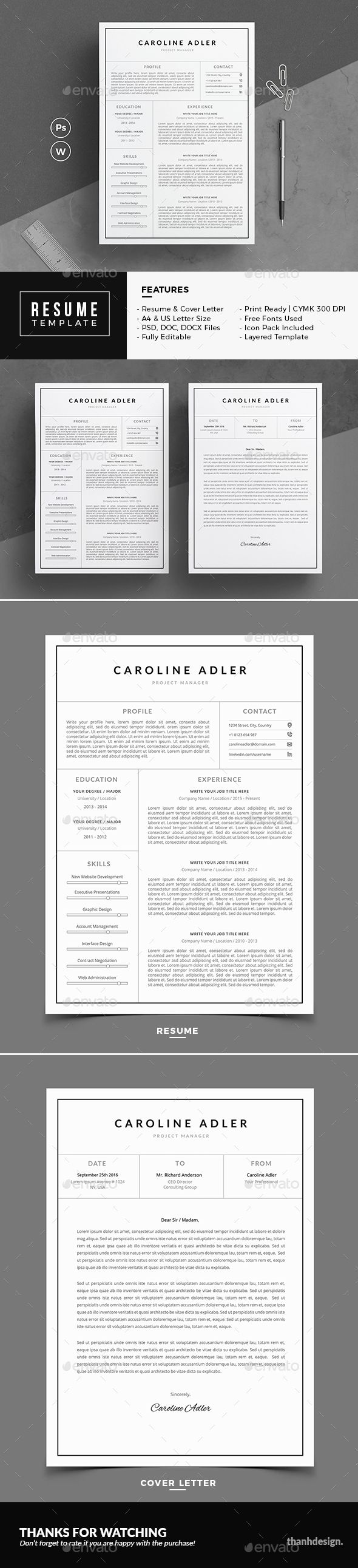 Resume #modern resume #resume creative  • Download here → https://graphicriver.net/item/resume/20817715?ref=pxcr