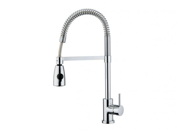 Teknobili Oz T7 Pull Out Sink Mixer 300 Reece 9500870 $541.99 15 year warranty.  Worried that horizontal stick is annoying to detach from...