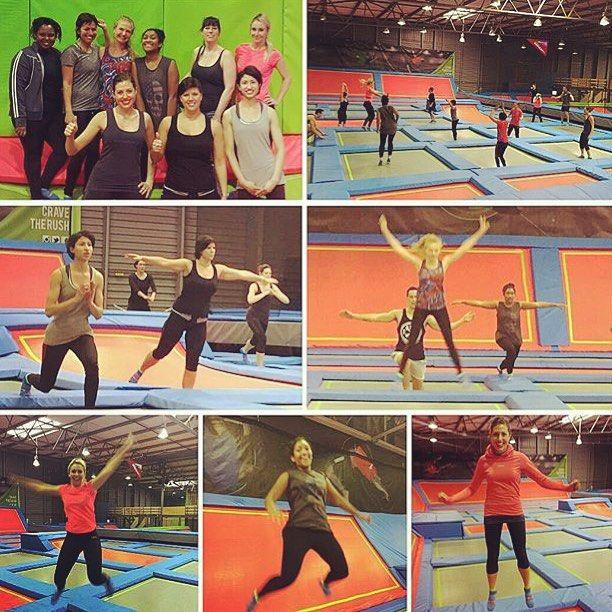 Thanks for the great workout @womenshealthmagsa @menshealthza see you guys soon. #fitness #gym #godisbigger #rushmovement #familytime #rushclaremont #rush #trampoline
