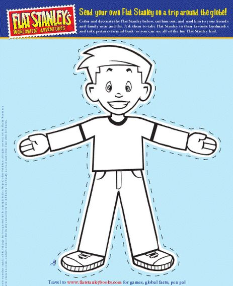flat stanley coloring pages - photo#26