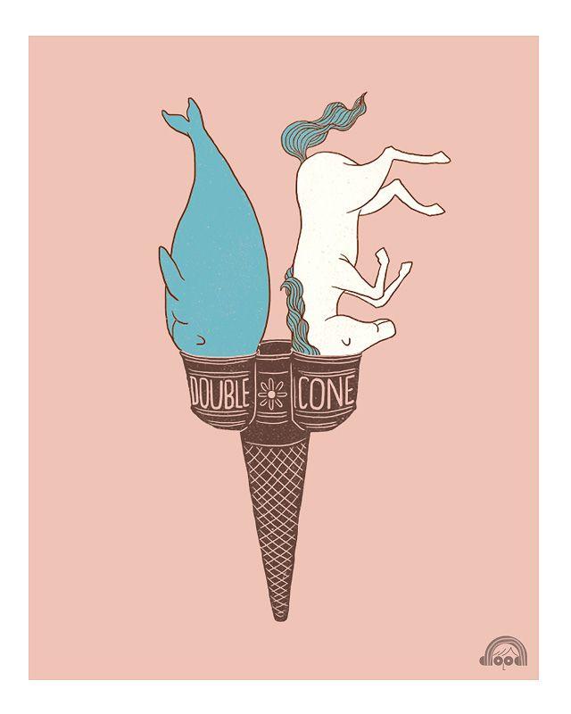 doble cone Ilustraciones de Heng Swee Lim
