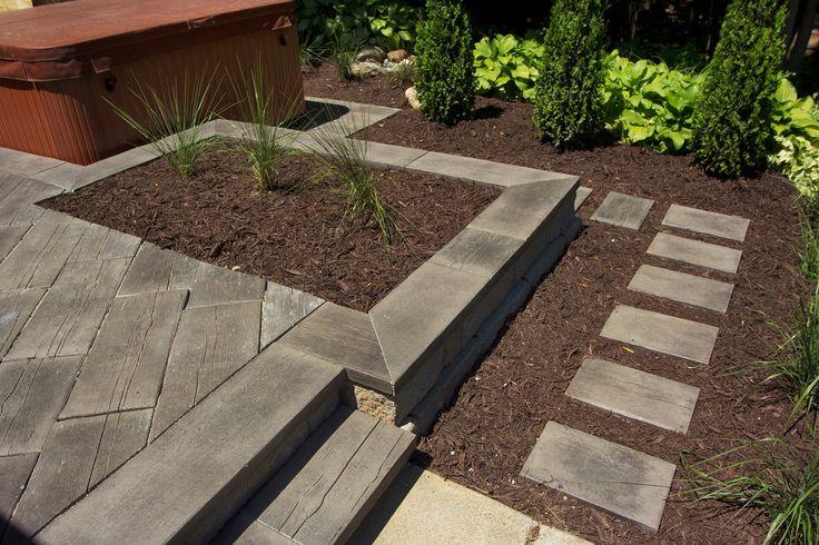 Twilight In Koi Pond >> Barn Plank concrete pavers | Back Yard Ideas | Pinterest | Concrete pavers, Barns and Planks