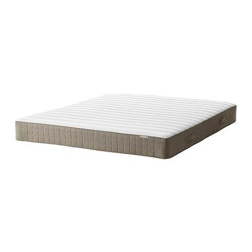 HAMARVIK Sprung mattress - 140x200 cm, medium firm/dark beige - IKEA