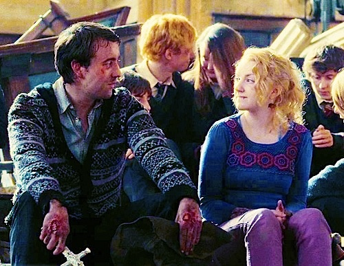 Even though I'm perfectly happy with Neville marrying Hannah Abbot and with Luna marrying Rolf Scamander...these two are so cute!