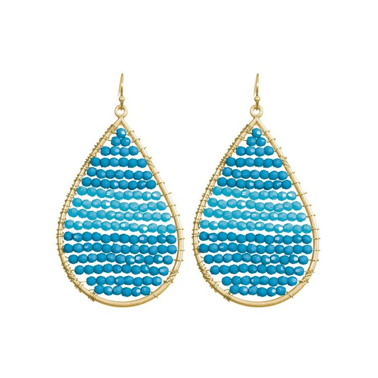 These babies are so cute for summer. From: http://www.towneandreese.com/earrings/olivia-earrings?color=130#
