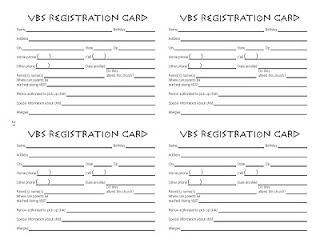 VBS registration form