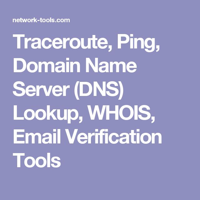 Traceroute, Ping, Domain Name Server (DNS) Lookup, WHOIS, Email Verification Tools