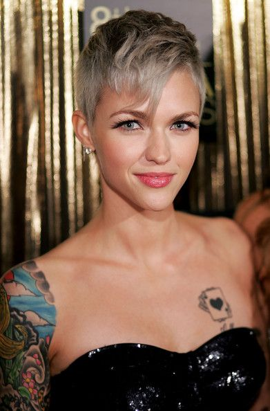 Best Ruby Rose Images On Pinterest Short Cuts Pixie Cuts - Undercut hairstyle ruby rose