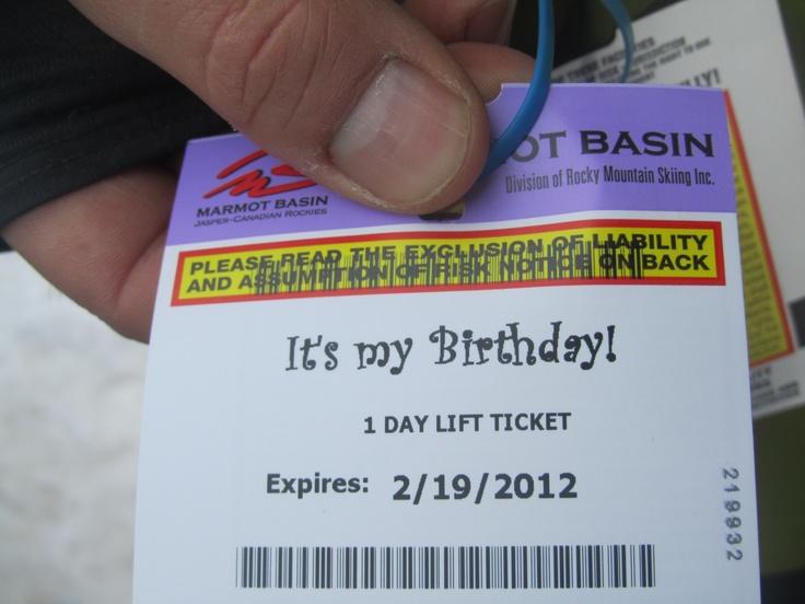 Ski Jasper on your birthday for free