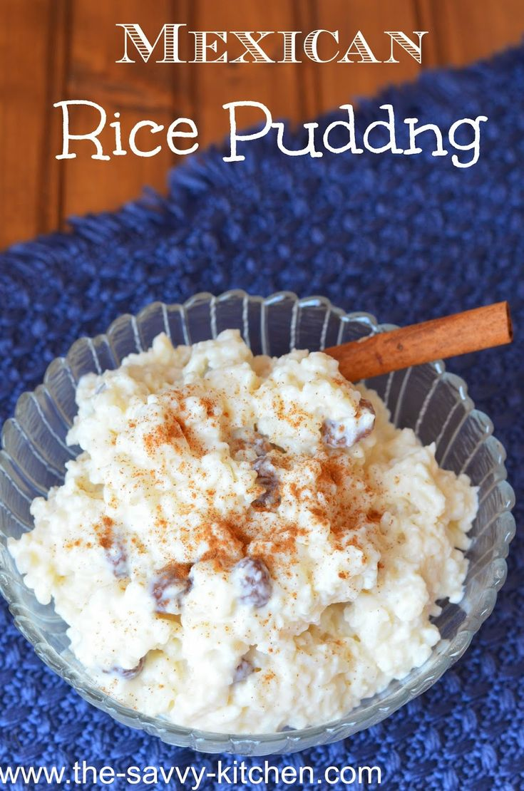Mexican Rice Pudding | Mexican rice