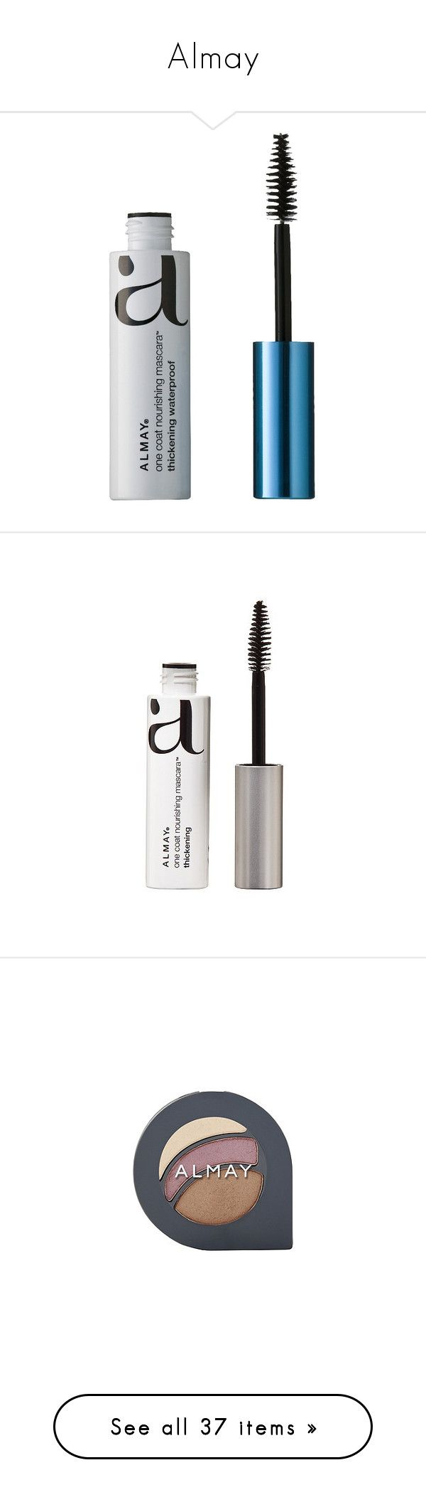 """Almay"" by shoppings9 ❤ liked on Polyvore featuring beauty products, makeup, eye makeup, mascara, waterproof black, almay mascara, almay eye makeup, conditioning mascara, almay and thickening mascara"