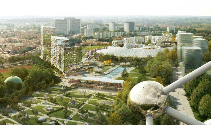 Europea, un futur ovni dans le paysage urbain  Jean-Paul Viguier, Unibail Image: Golem-images