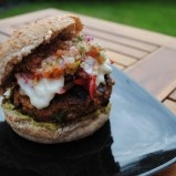 Fajita Burger - I want to try it, though I don't have a grill.. can it be done on George foreman? or stove?