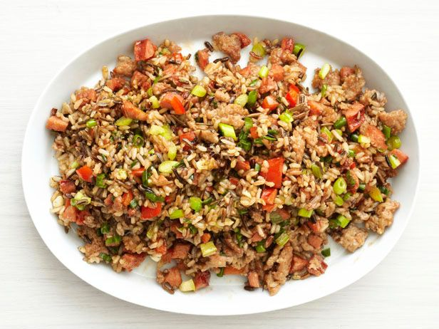 Cajun Pilaf - I used Trader Joes' Rice Medley (frozen, all 3 packages), 1 pound of ground pork, and 1 pound of andouille sausage to make as an entree instead of side dish.  Will make again.