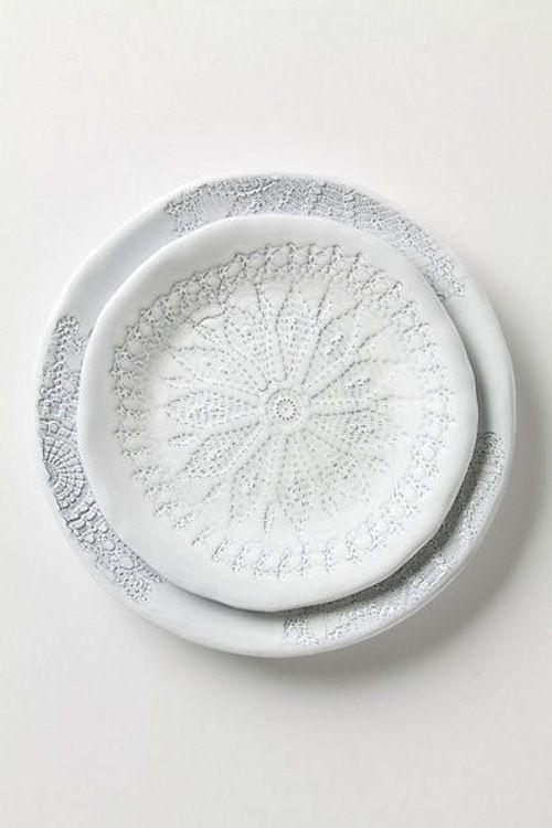 Plate with spirograph design. [ From: http://aprilandmaystudio.blogspot.com ]