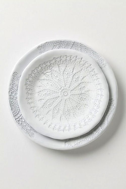 Plate with spirograph design. [ From: http://aprilandmaystudio.blogspot.com ]
