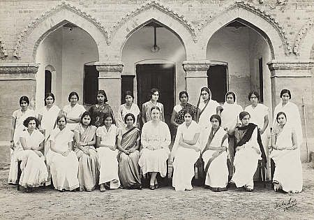The Kinniard College for Women in Lahore, what used to be in India until the Partition in 1946. Lahore is now part of Pakistan. My fictional character Miriam Richards is a teacher in this real-life college in VEILED AT MIDNIGHT.