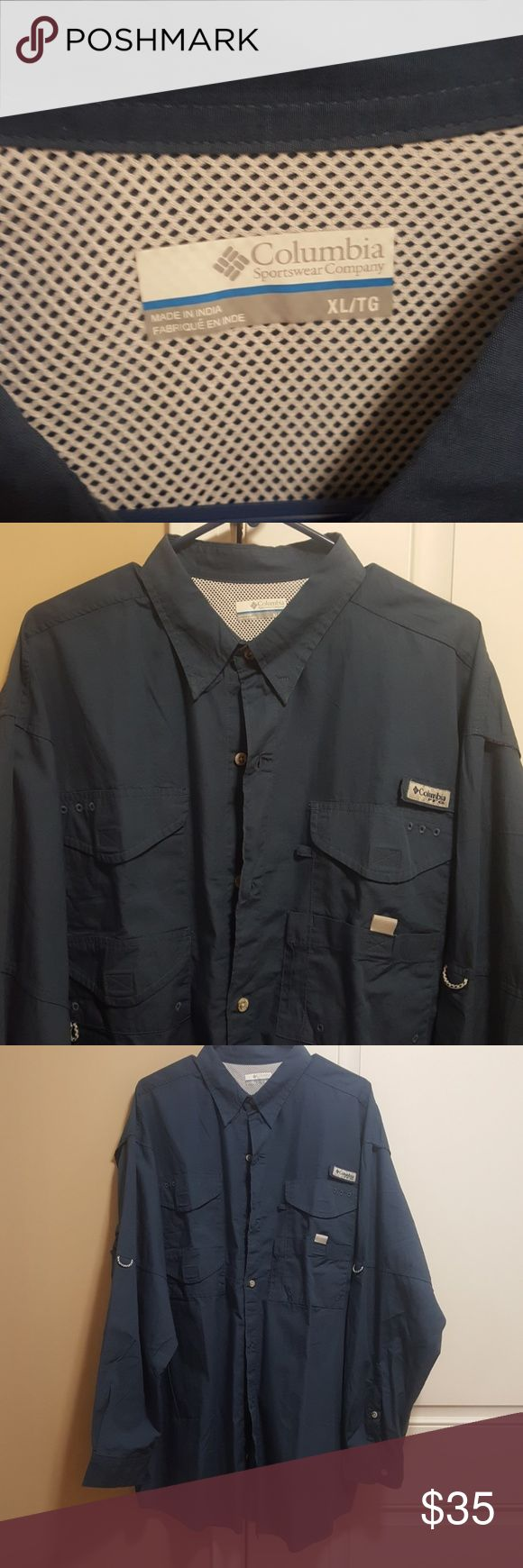 Columbia long sleeve PFG shirt Worn once like new Columbia PFG shirt Size XL. Please make offers you never know. Columbia Shirts Casual Button Down Shirts