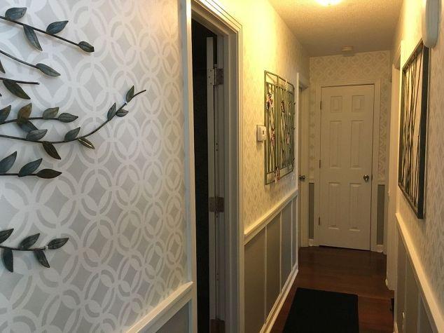 corridoio stenciled finalmente finito, decorazione della parete