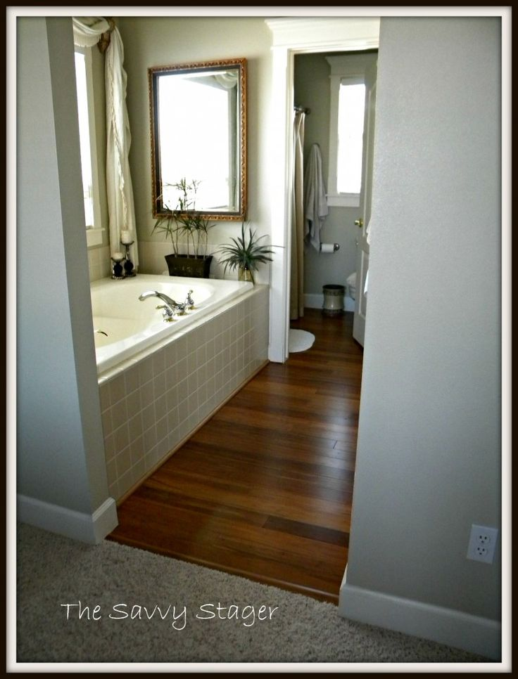 Bamboo floors in Master Bathroom