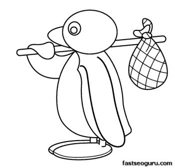 Printable Cartoon Pingu coloring pages - Printable Coloring Pages For Kids