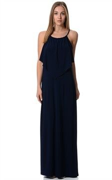 Stunning Maxi With Overlay Style-Dr3157-Navy