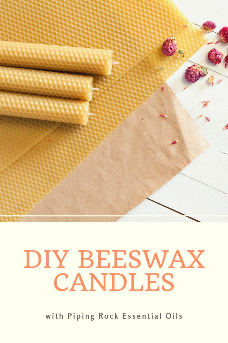 Diy beeswax candles with piping rock essential oils