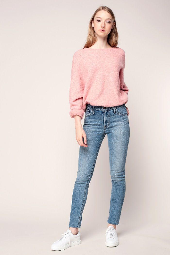 Levi's Jean 721 skinny soft vintage pas cher prix Jeans Femme Monshowroom 109.00 €