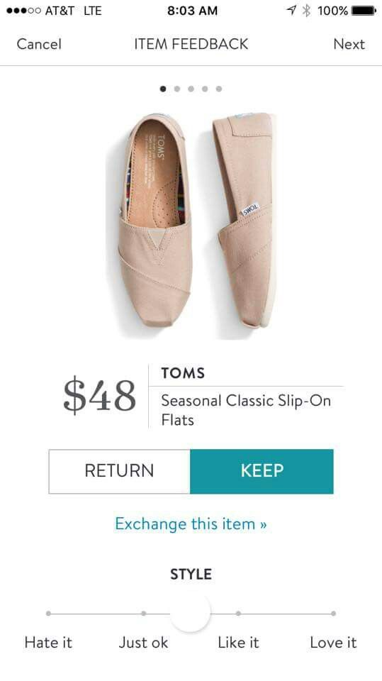 Stitch Fix Toms slip on Flats