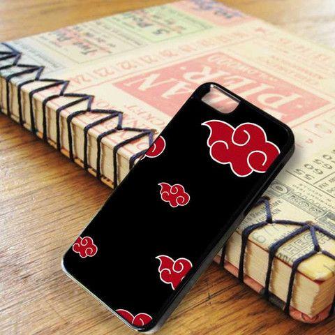 Naruto Akatsuki Red Cloud Pattern iPhone SE Case